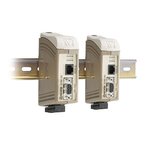 Industrial ISDN Modems by Westermo, supporting serial RS-232, RS-422 and RS-485 interfaces.