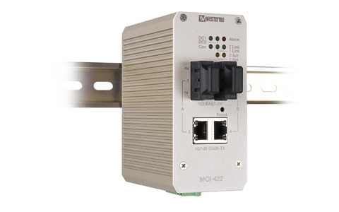 Westermo 2-channel Ethernet to Fibre Media Converter MCI-422.