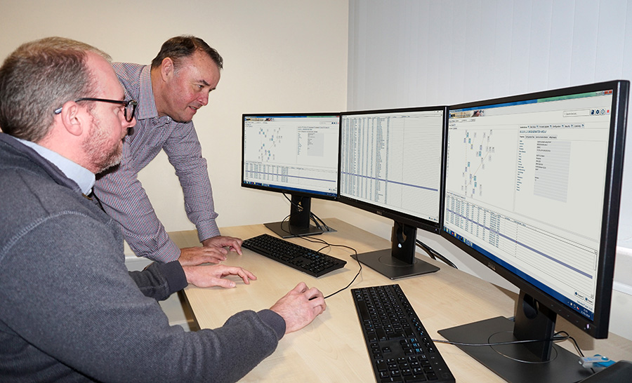 Electricity North West engineers using WeConfig network configuration tool.